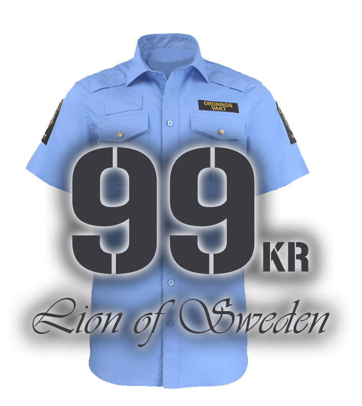 Kortärmad ov skjorta Lion of Sweden